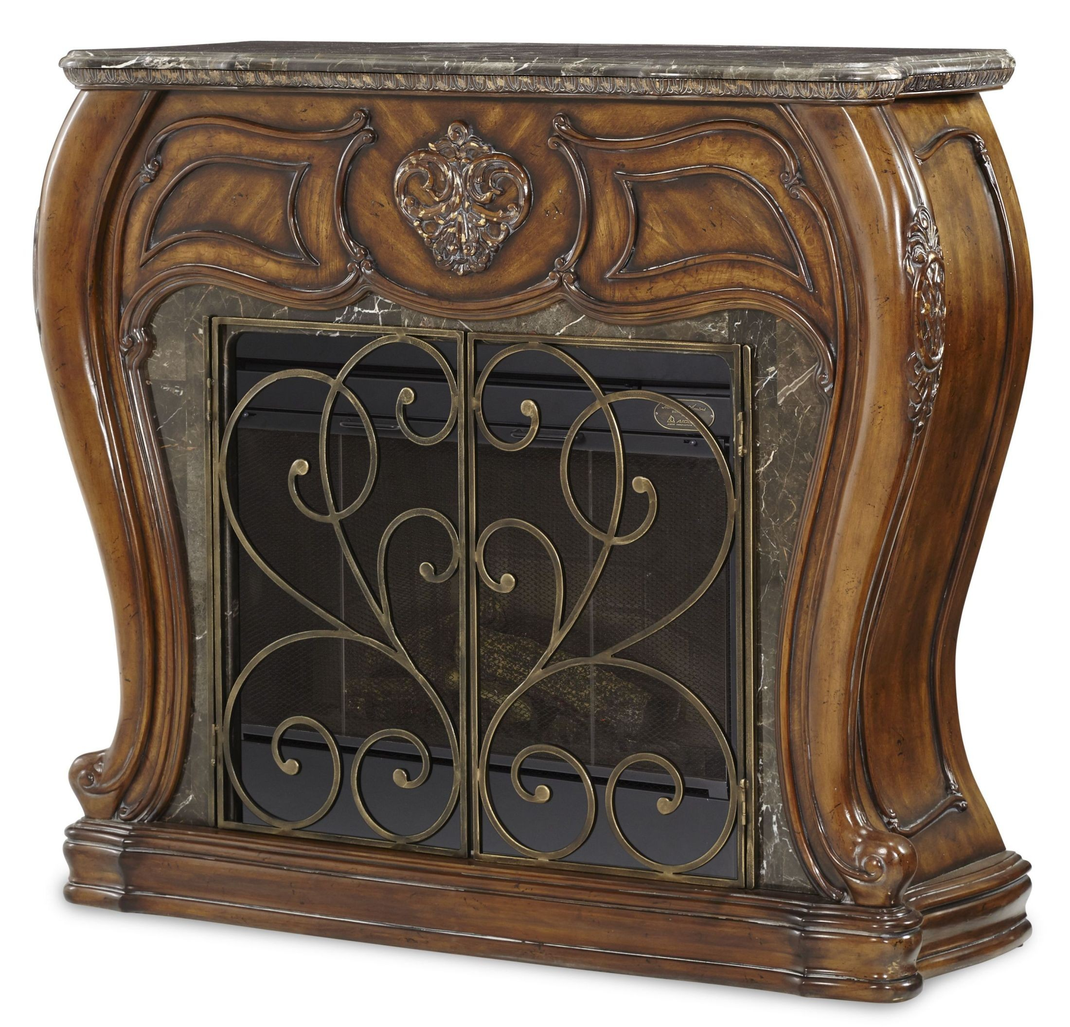 Lavelle Melange Marble Top Fireplace With Electric