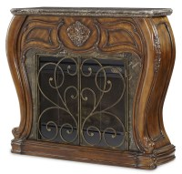 Lavelle Melange Marble Top Fireplace With Electric ...