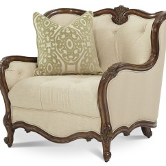 One And A Half Chair Fujita Massage Review Lavelle Melange Wood Trim From Aico