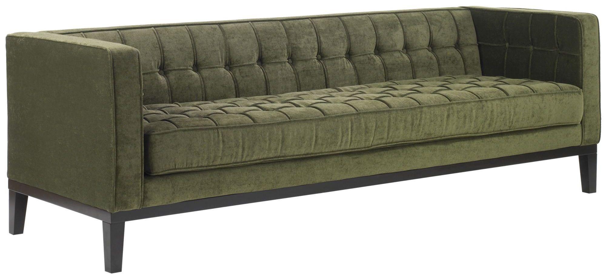 green fabric sofas sofa throw roxbury tufted lc10103gr armen living