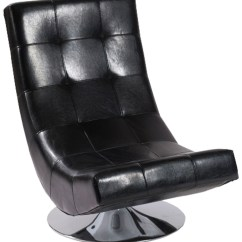 Black Bonded Leather Chair Blue Bay Kenny Chesney Mario Swivel From Armen Living