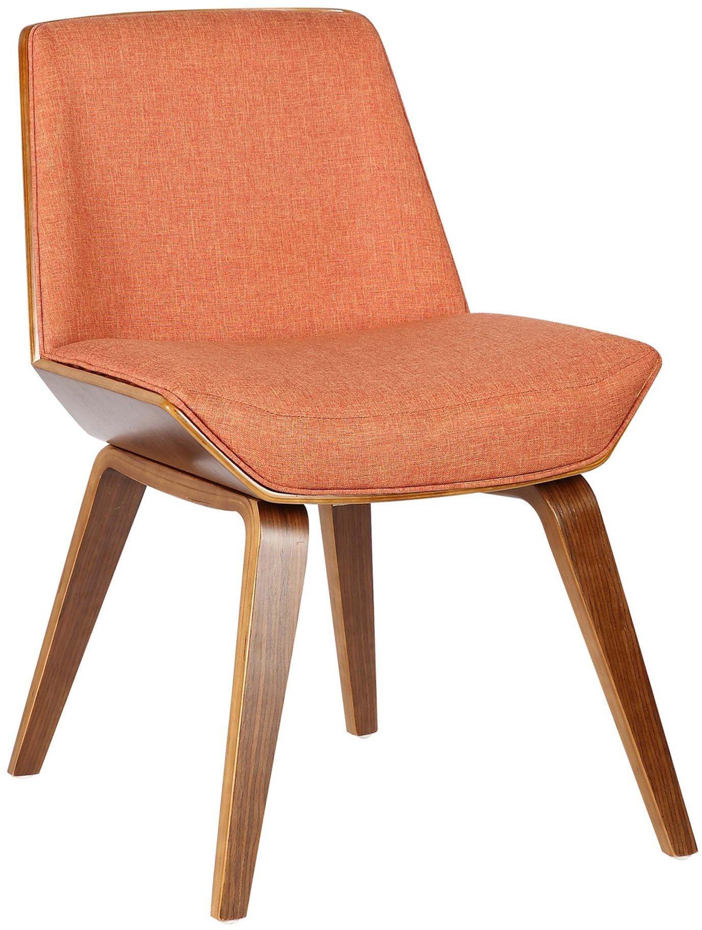 Agi MidCentury Orange Dining Chair Set of 2 from Armen