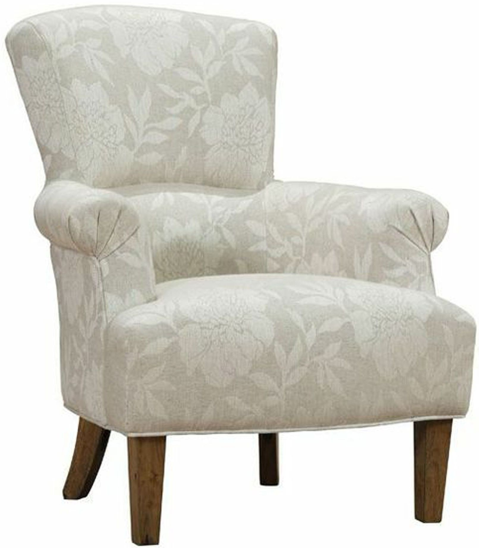 Cream Accent Chair Barstow Cream Flower Fabric Accent Chair From Armen Living