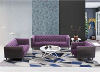 Bellagio Purple Fabric Living Room Set, LCBE3PU, Armen Living