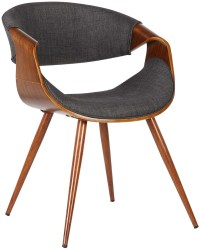 Butterfly Mid-Century Charcoal Dining Chair Set of 2 from ...