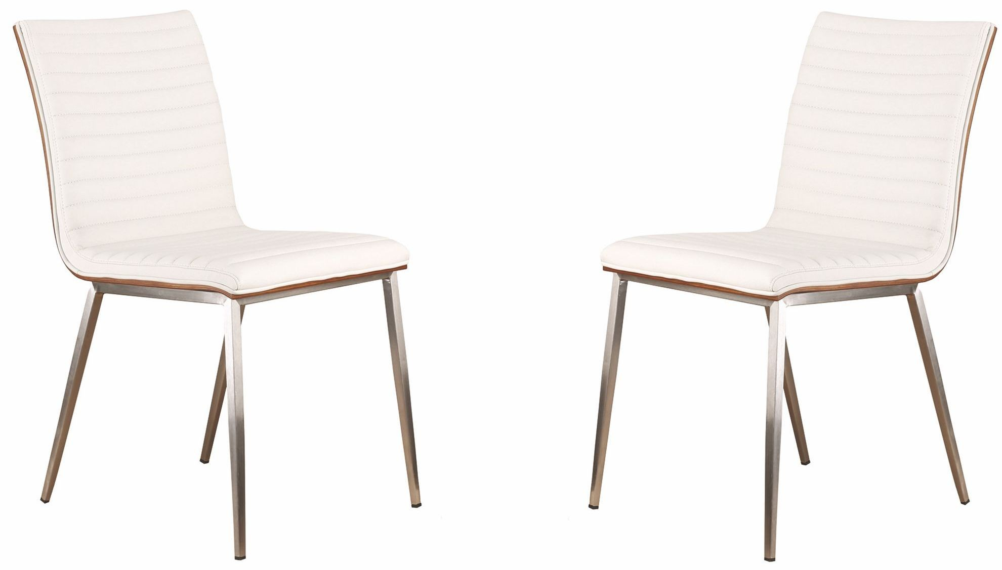 steel net chair office chairs near me cafe brushed stainless white dining set of 2