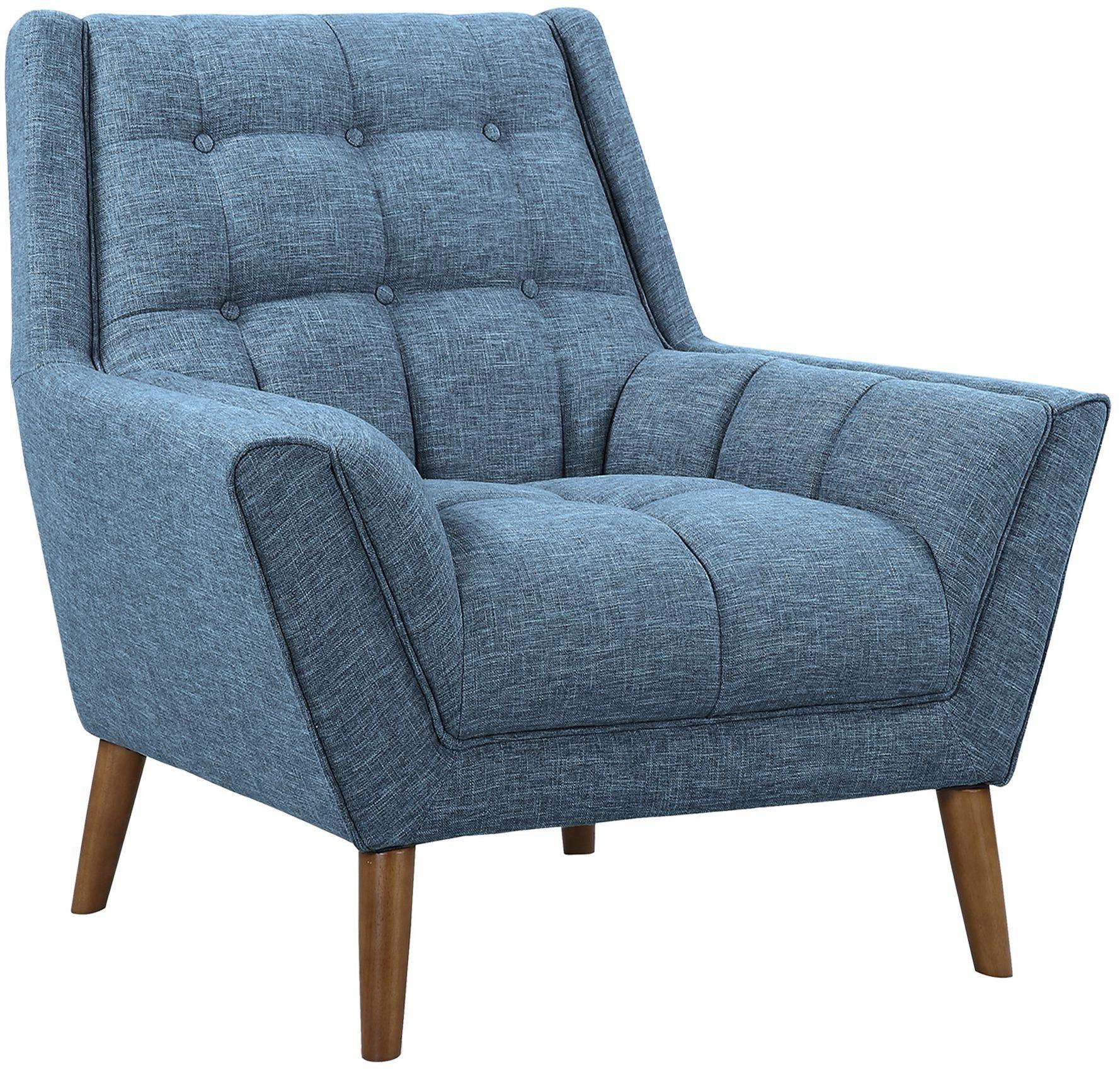 modern blue chair purple velvet bedroom chairs cobra mid century linen from armen