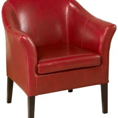 Red Club Chair Massager With Heat 1404 Leather From Armen Living Coleman