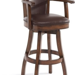 Counter Height Arm Chair Stainless Steel Chairs For Hospitals Raleigh Chestnut 30 Quot Bar Swivel Wood Barstool