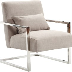 Modern Accent Chairs Commercial Dining Skyline Gray Linen And Steel Chair Lcskchgr