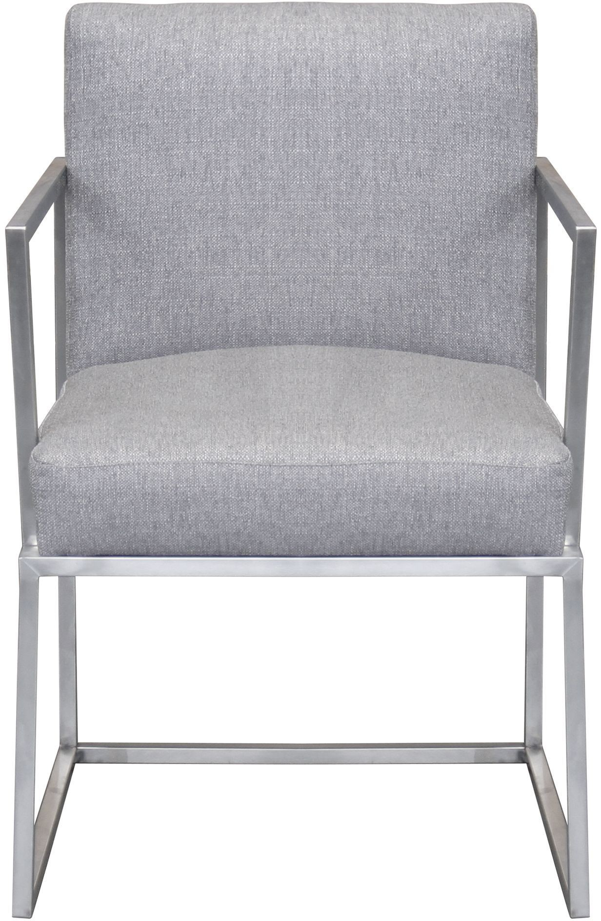 Grey Upholstered Chair Warwick Grey Upholstered Arm Chair From Armen Living