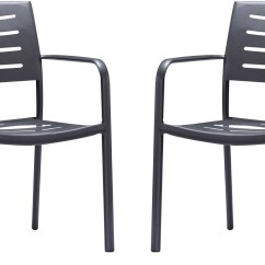 Stackable Deck Chairs White Plastic Lawn Target Zander Outdoor Brown Patio Dining Chair Set Of 2