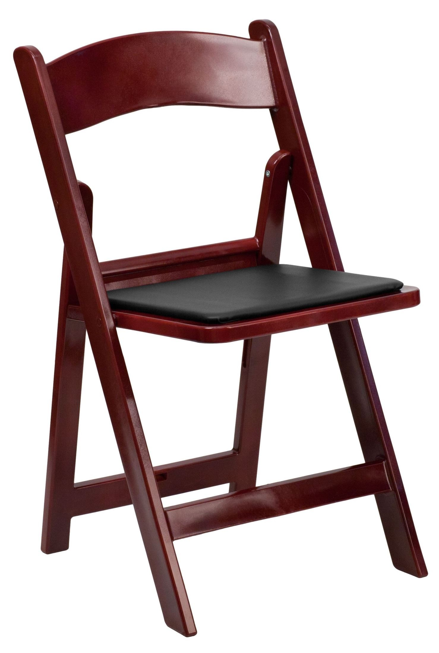 folding chair brands convertable bed hercules series red mahogany resin vinyl