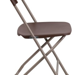 Hercules Folding Chair Room And Board Leather Series Premium Brown Plastic From