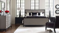 Symphony Platinum & Black Tie Panel Bedroom Set from ...