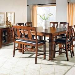 Red Counter Height Dining Chairs Best Swivel Glider Recliner Lakewood Medium Oak Extendable Rectangular