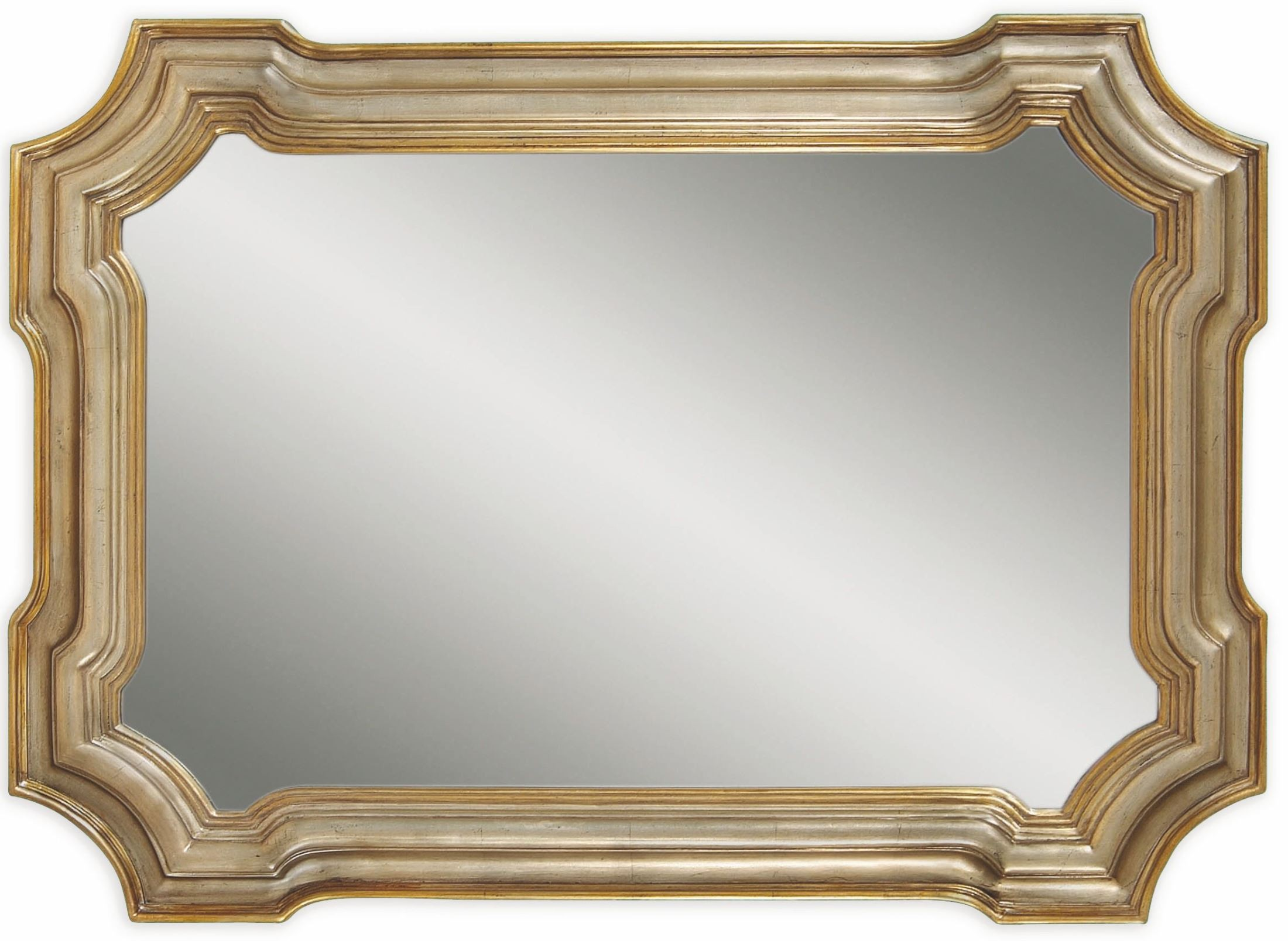 Angelica Silver And Gold Wall Mirror From Bassett Mirror