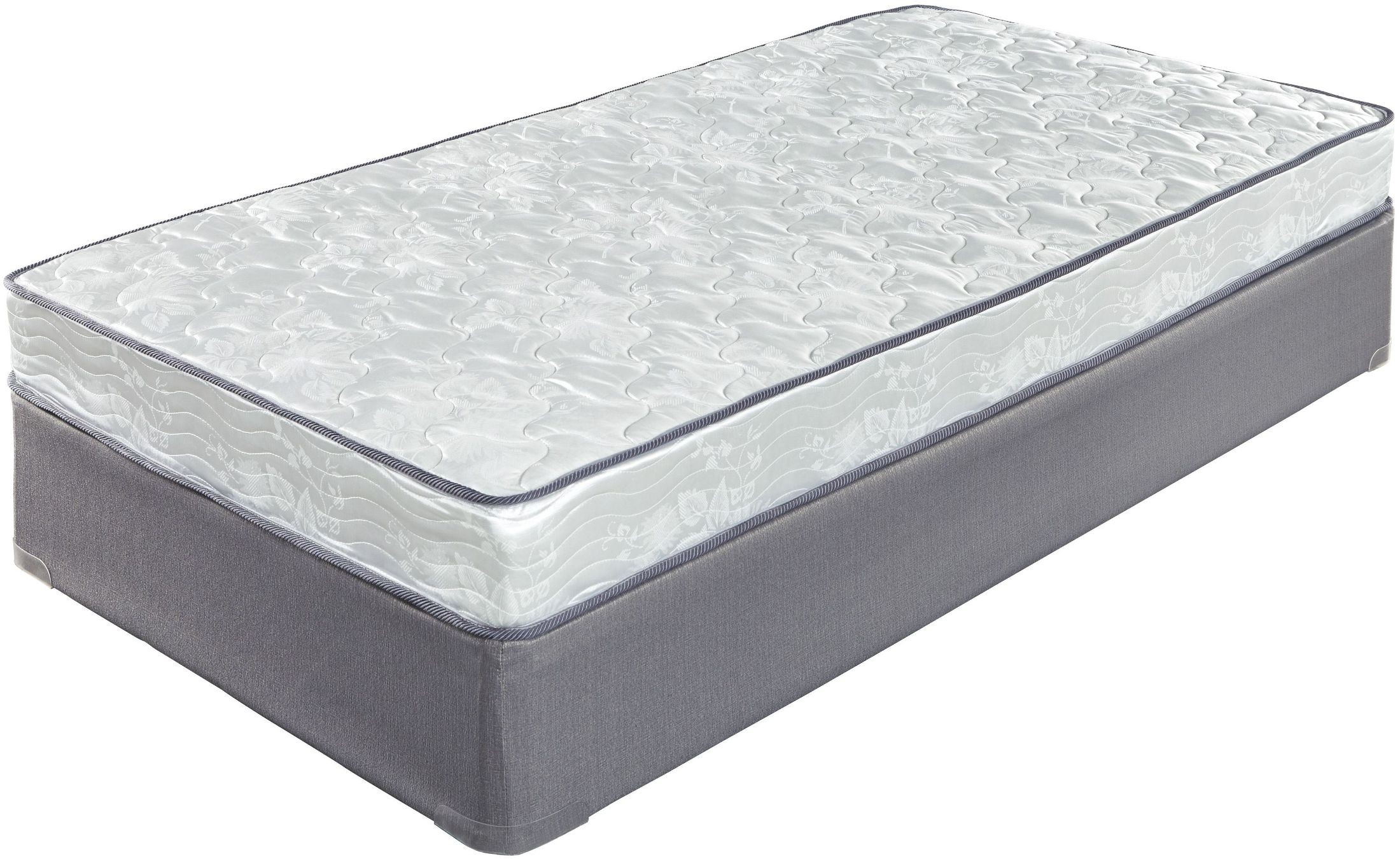 6 Inch Bonell White Twin Mattress from Ashley  Coleman