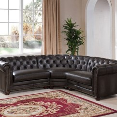 8 Piece Leather Sectional Sofa 40 Deep Madison Grey 3 From Amax