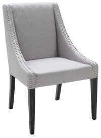 Malabar Dining Chair Fabric in Silver Linen from Sunpan