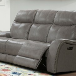 Grey Power Reclining Sofa Foldable Chair Mammoth Dual From Parker Living
