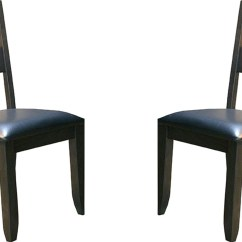 Black Side Chair Farmhouse Dining Table And Chairs Set Mariposa Ladderback Upholstered Of 2
