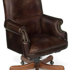 Swivel Chair Brown Folding Covers Walmart Grandy Leather Executive Tilt From