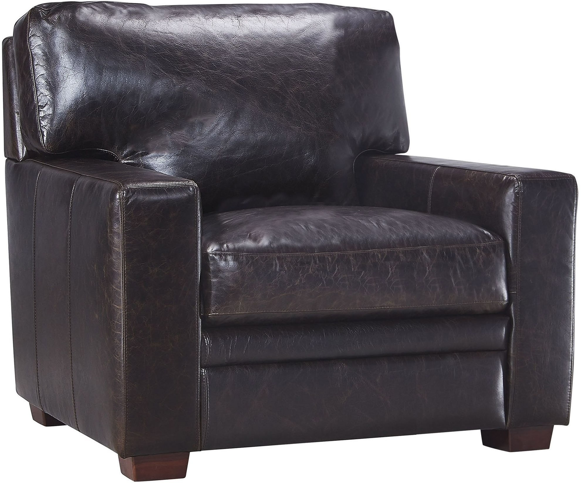 dark brown leather chair baby chairs kmart georgetowne norman from luxe