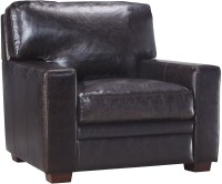 Georgetowne Norman Dark Brown Leather Chair from Luxe ...