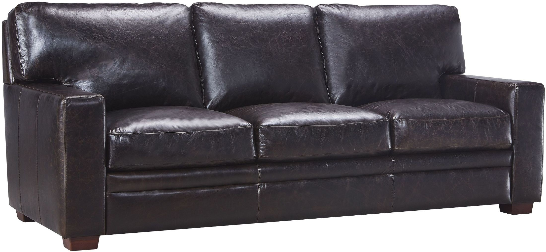 leather italia sofa furniture bed lexington ky georgetowne norman dark brown from 2254788