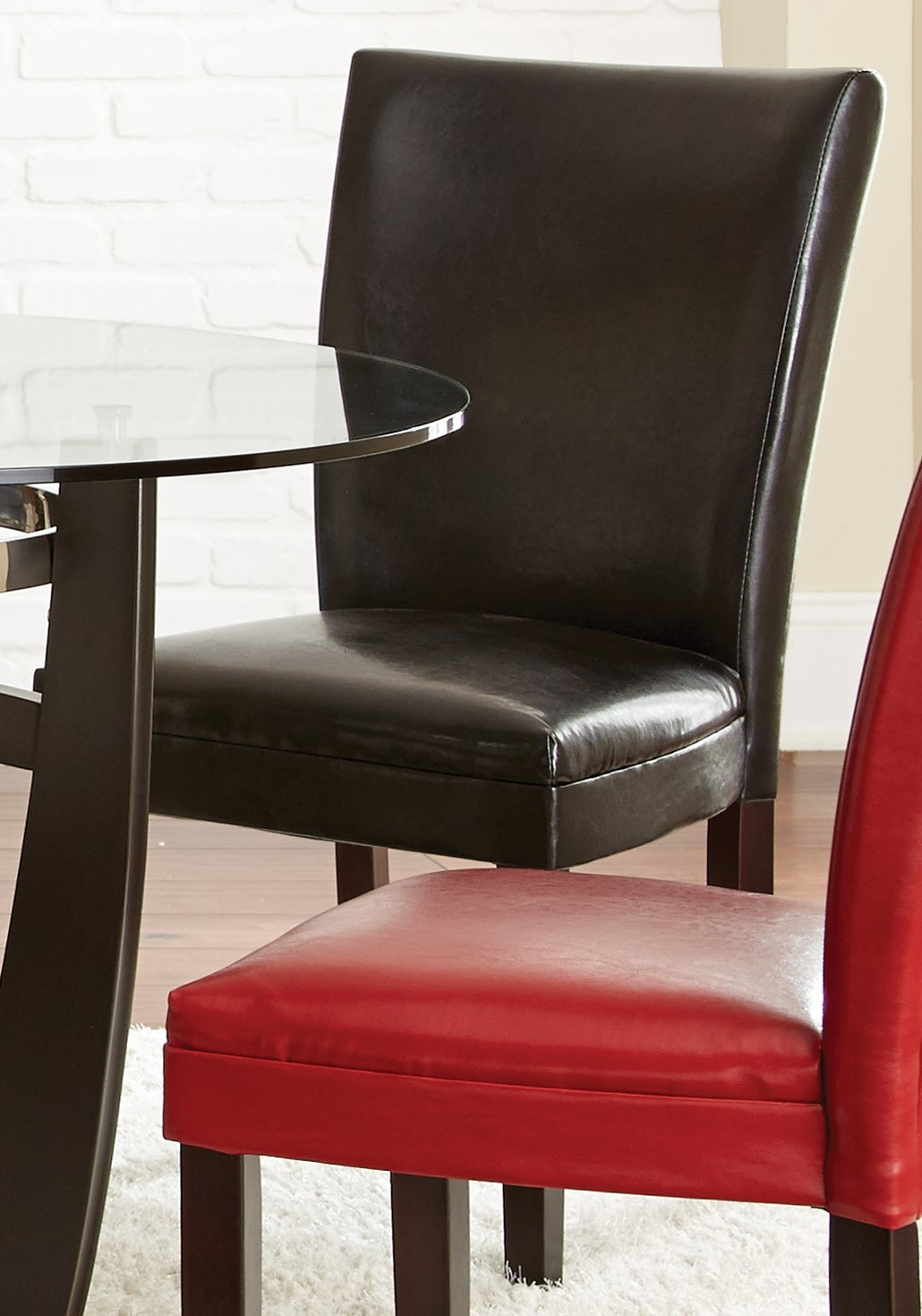 rialto black bonded leather chair plush recliner chairs matinee set of 2 from steve