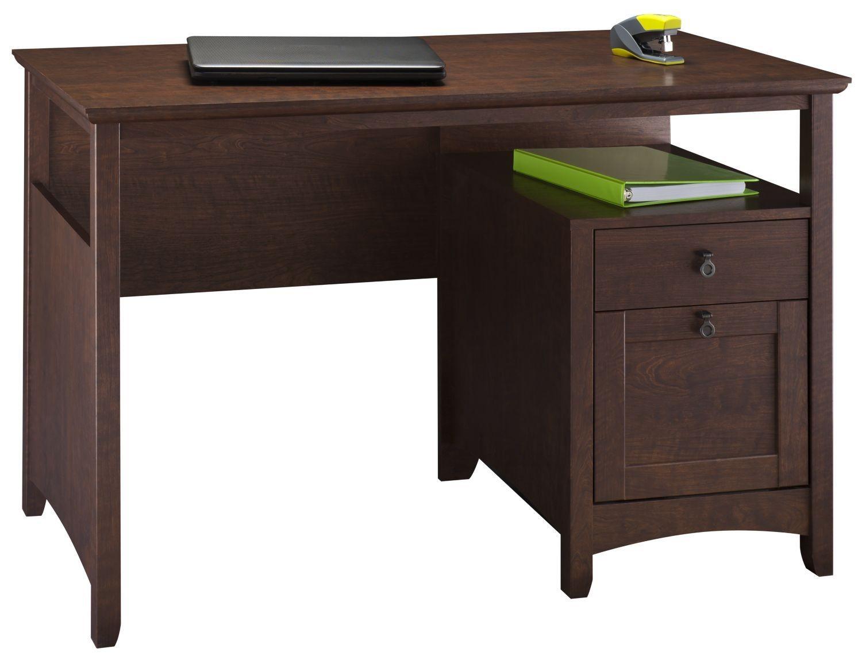 Buena Vista Madison Cherry Single Pedestal Desk With Tall