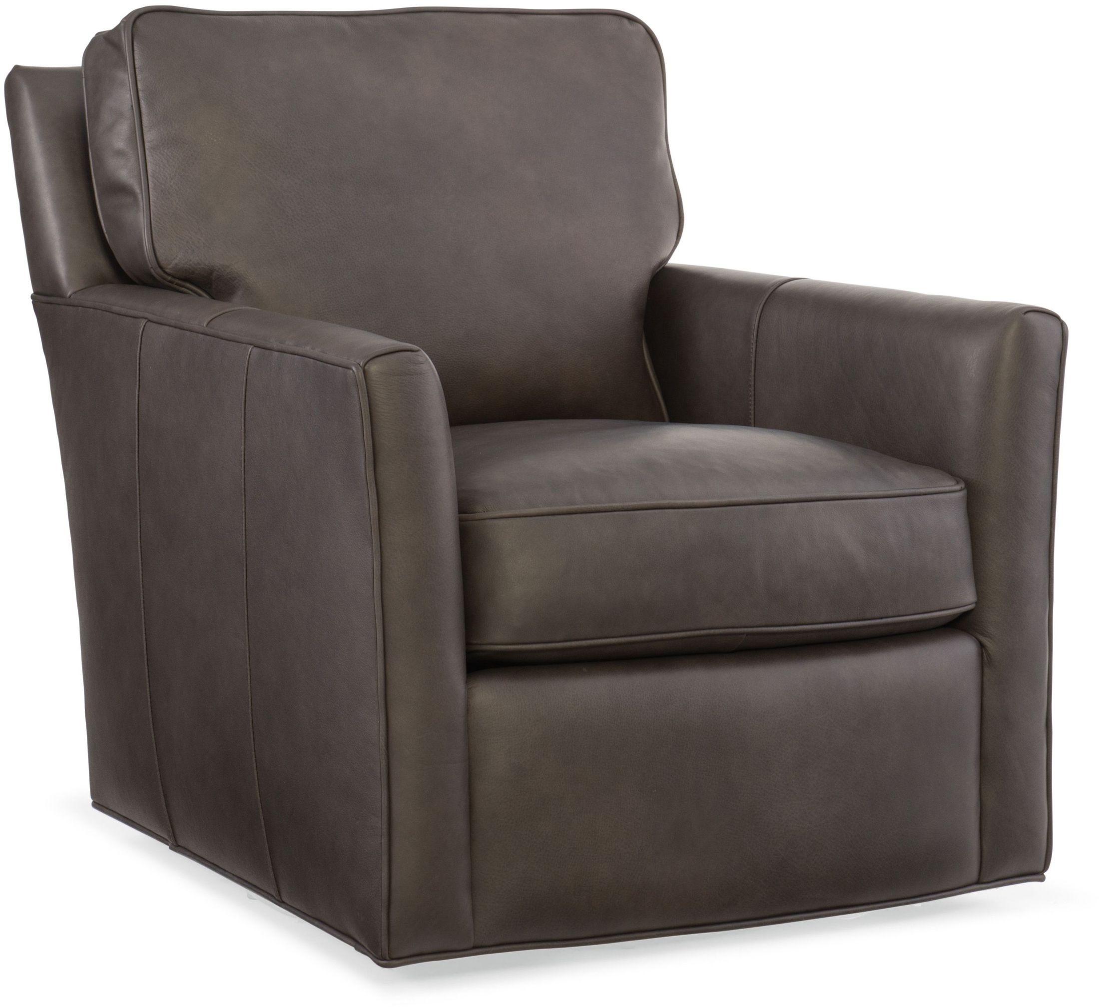 Grey Leather Club Chair Mandy Gray Swivel Leather Club Chair From Hooker Coleman