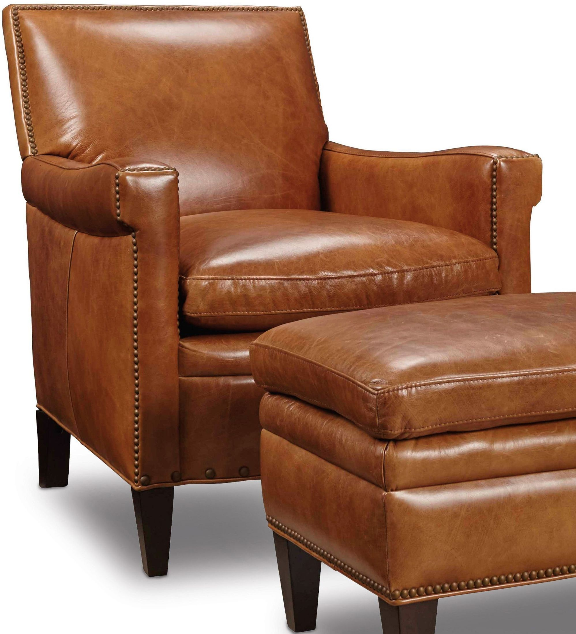 Jilian Brown Leather Club Chair from Hooker  Coleman