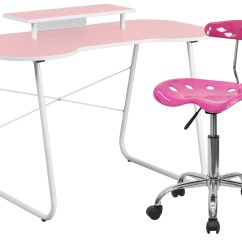 Chair Computer Stand Painted Adirondack Chairs For Sale Pink Desk With Monitor And Tractor