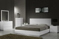 Naples White Lacquer Platform Bedroom Set from J&M (17686 ...