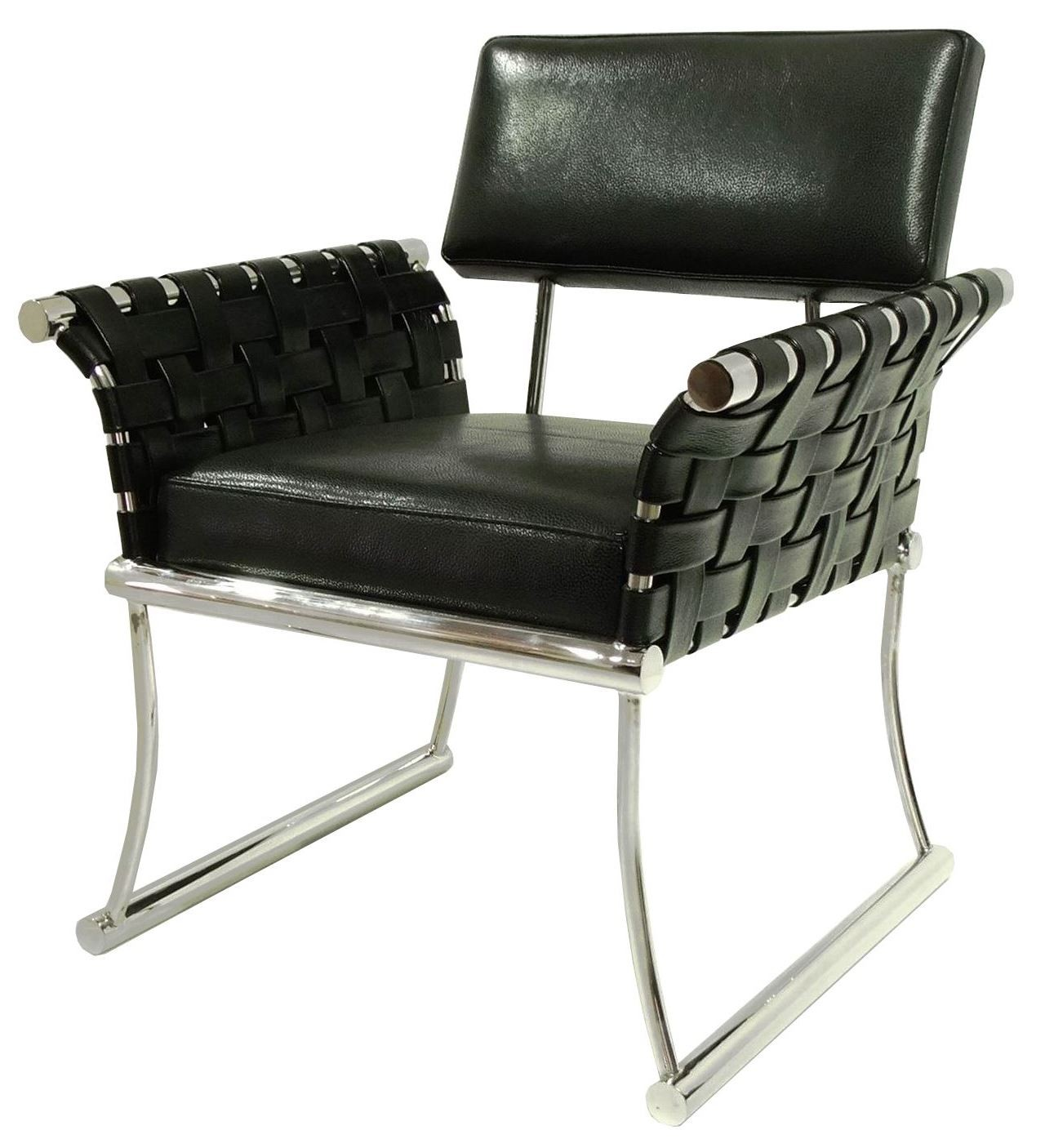 Nyla Black Leather Accent Chair from Bellini Modern Living
