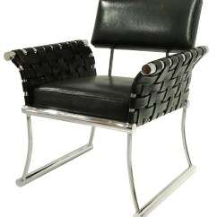 Black Leather Accent Chairs Kids Outdoor Lounge Chair Nyla Blk Bellini Modern