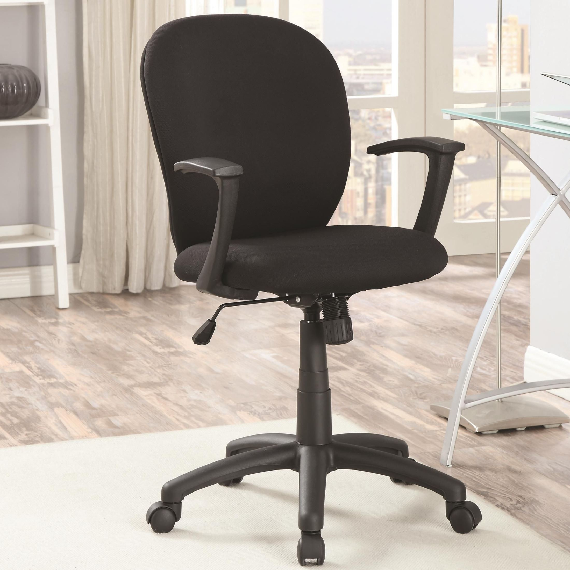 padded office chair high replacement cover 800537 black from coaster
