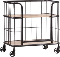 Industrial Wood and Metal Trolley Bar Cart from Pulaski ...