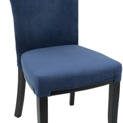 Navy Blue Dining Chair Mid Century Modern Rocking Canada Olivia Espresso And Velvet Set Of 2