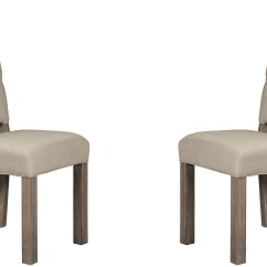 Grey Upholstered Chair White Legs Teen Room Fiji Side Set Of 2 From Alpine