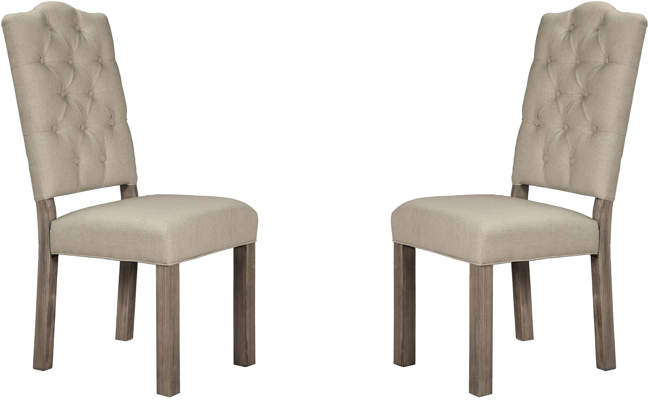 Grey Upholstered Chair Fiji Grey Upholstered Side Chair Set Of 2 From Alpine