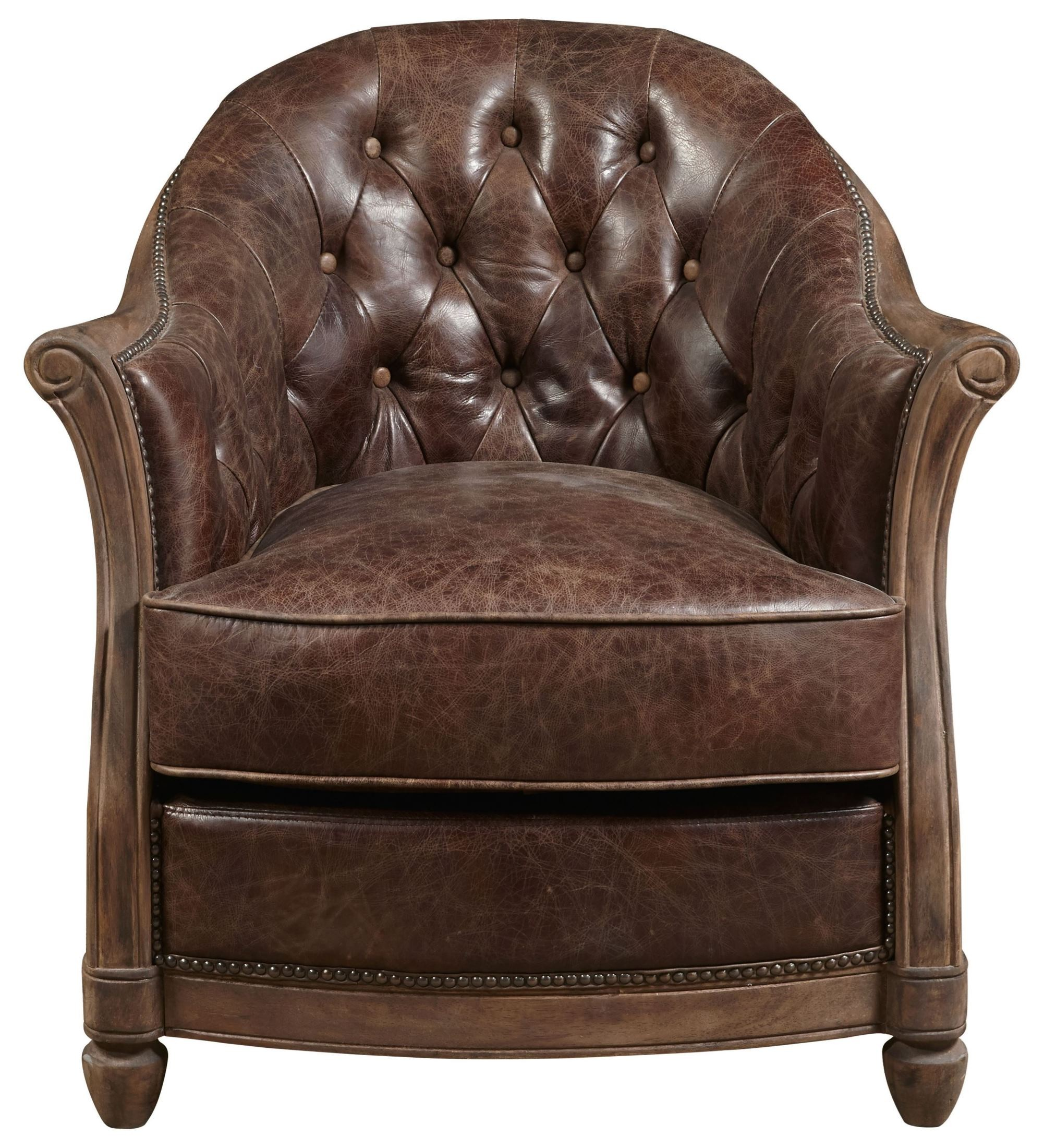 brown leather sofa accent chair smith sofascore andrew p006205 pulaski