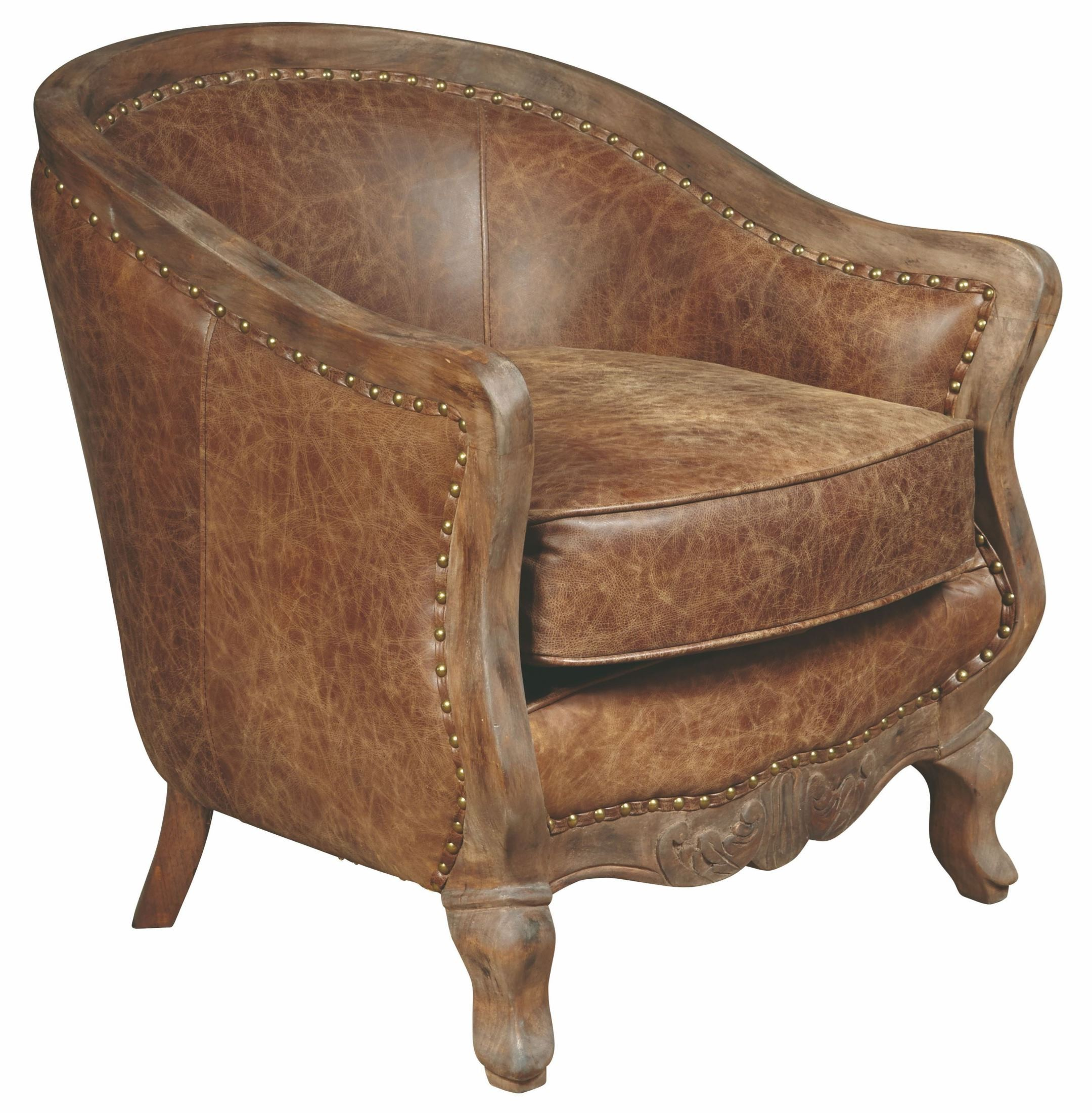Brown Accent Chairs Sloane Brown Leather Accent Chair P006206 Pulaski