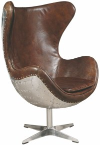 Brown Leather Accent Chair, P006210, Pulaski