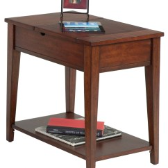 Chair Side Tables With Storage Recliner Reviews Chairsides Birch Veneer Hidden Chairside Table