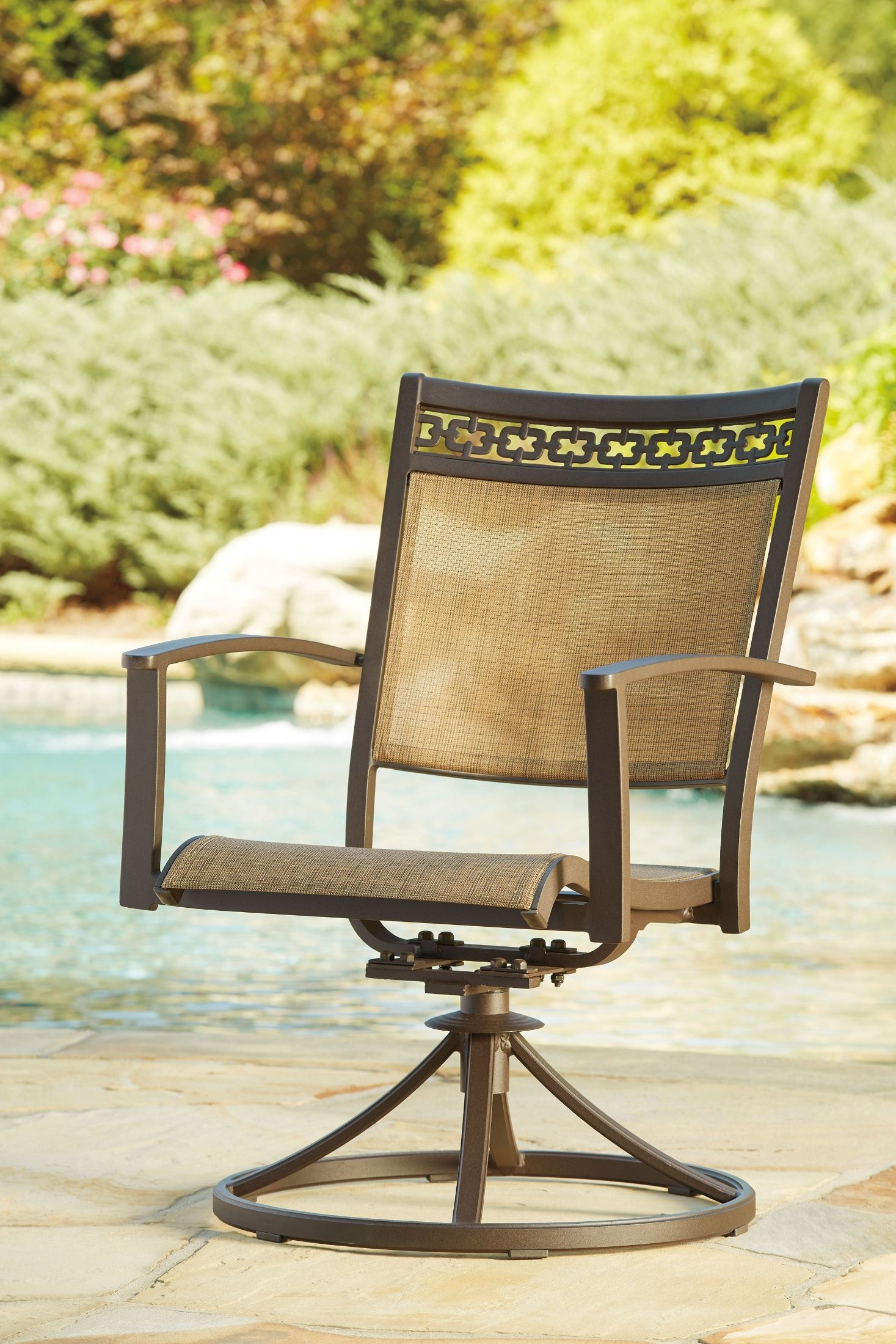 target sling chair tan outdoor wicker chairs uk carmadelia and brown swivel set of