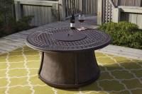Burnella Round Fire Pit Table, P456-776T-776B, Ashley