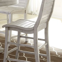 White Distressed Dining Chairs Blue Swivel Chair Uk Willow Rectangular Counter Height
